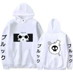 sweatshirt one piece pirate brook blanc