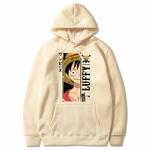 sweatshirt one piece monkey luffy beige
