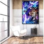 tableau toile one piece kaido divine thunder 3