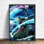 tableau toile one piece roronoa zoro storm 3