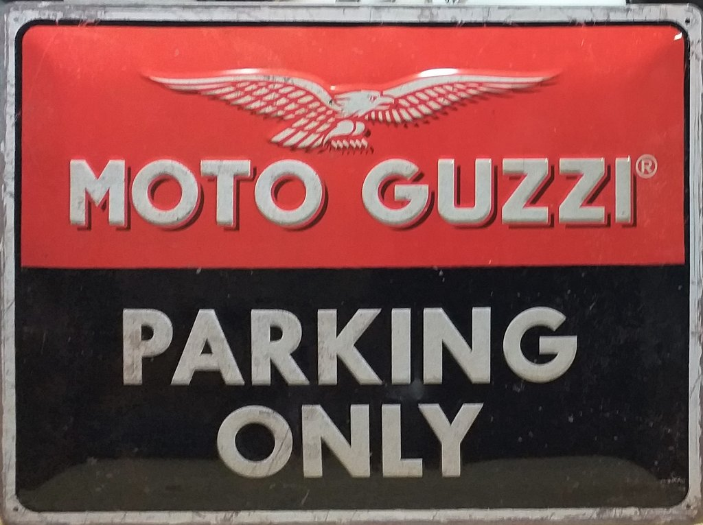 Plaque métal vintage Moto Guzzi 40x30