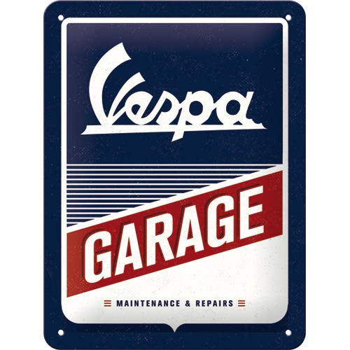 plaque Vespa garage 15x20