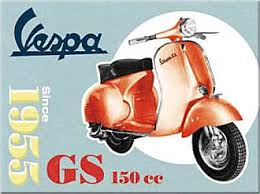 magnet vespa 8x6 vintage