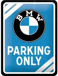 Plaque métal BMW parking 15 x 20