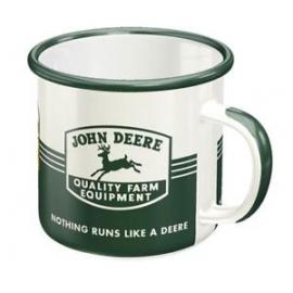 Mug émaillé John Deere vintage