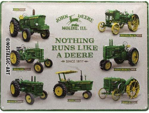 Plaque John Deere histoire 40 x 30