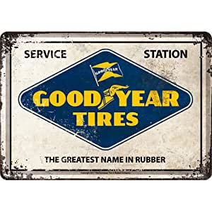 plaque métal goodyear émaillée garage vintage