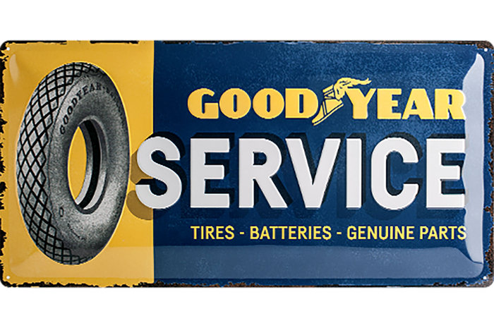 Plaque Goodyear service 50 x 25