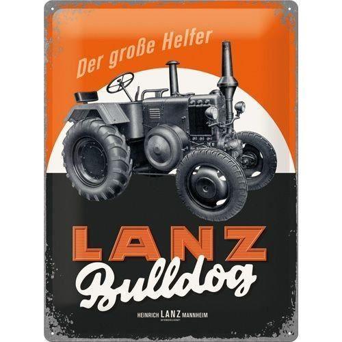 Plaque publicitaire vintage Lanz bulldog 30 x 40
