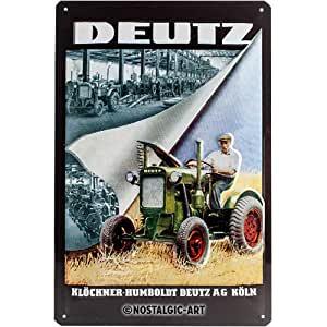 Plaque métal Deutz vintage 20 x 30