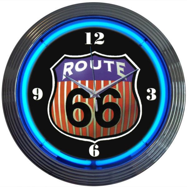 Horloge néon Route 66