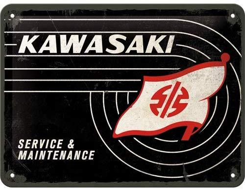 Plaque Kawasaki service 15 x 20