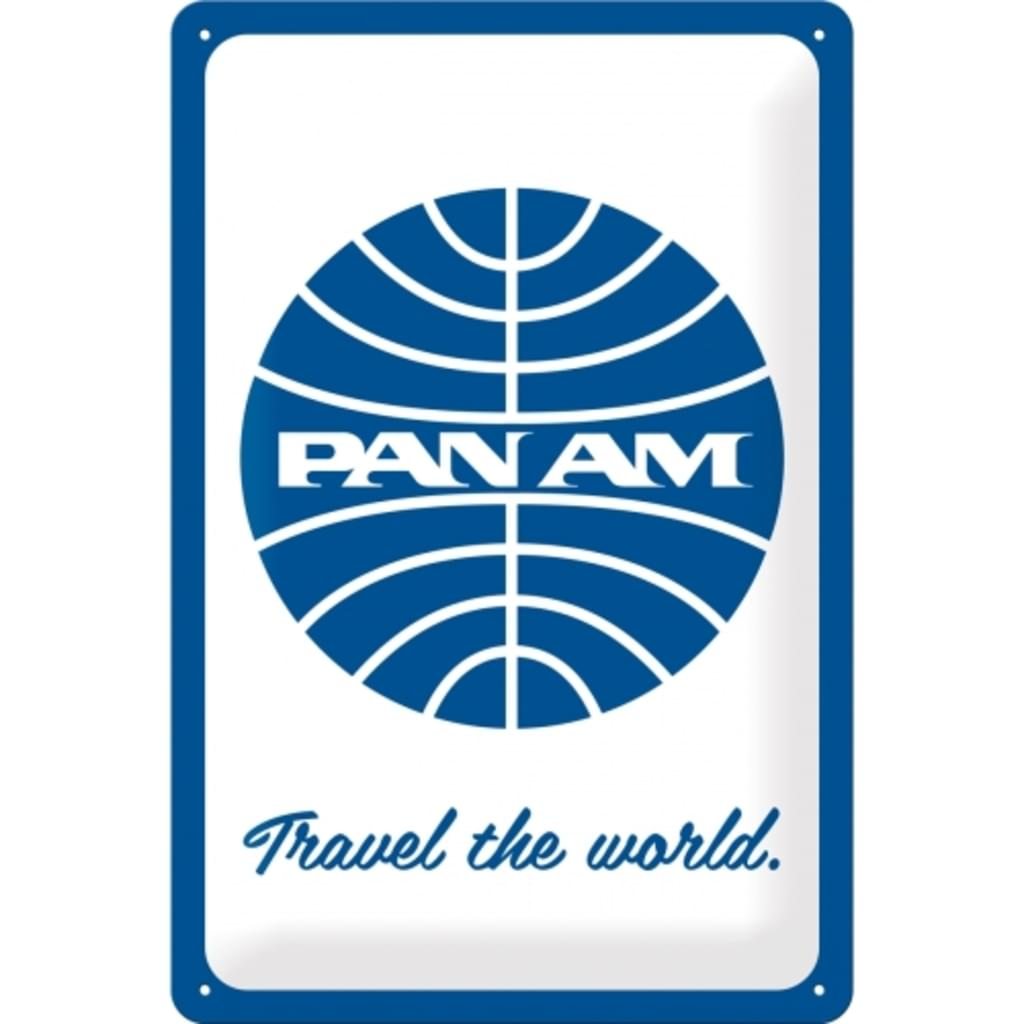 Plaque publicitaire Pan-am 20 x 30