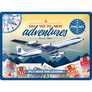 Plaque publicitaire Pan-am adventures 40 x 30