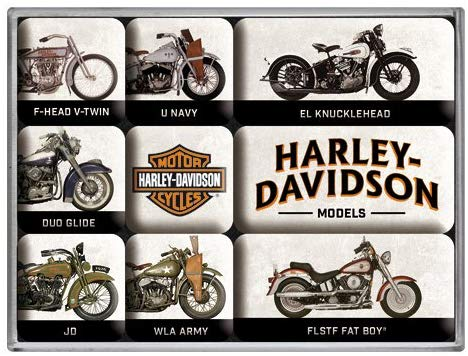 Lot de 9 magnets Harley vintage