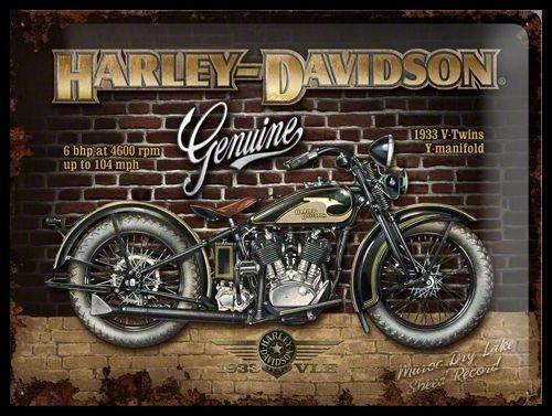 Plaque Harley Davidson 40 x 30