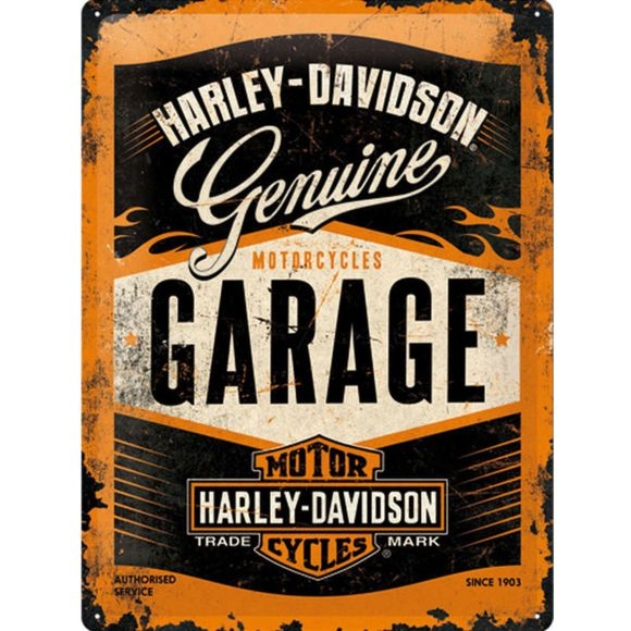 Plaque Harley garage 30 x 40