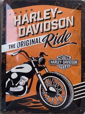 Plaque Harley ride 20 x 30