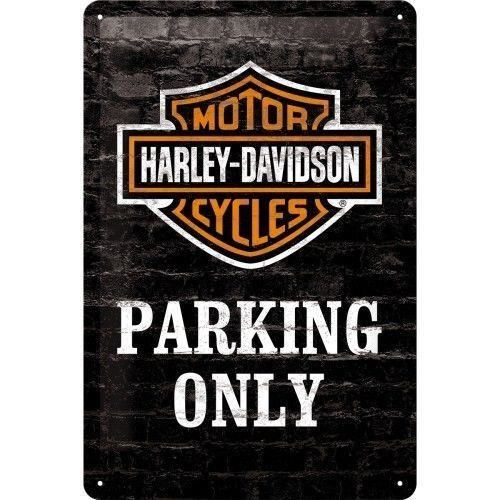 Plaque Harley parking only 20 x 30