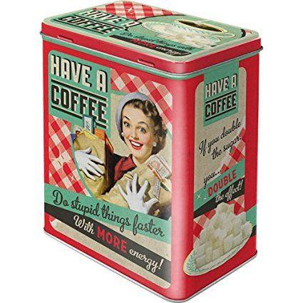 Boite métal vintage coffee