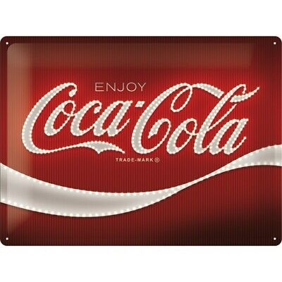 Plaque métal enjoy Coca-cola 40 x 30