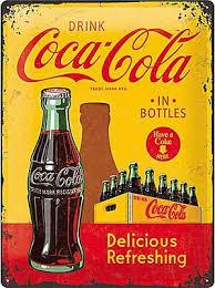 Plaque métal coca-cola vintage 30 x 40