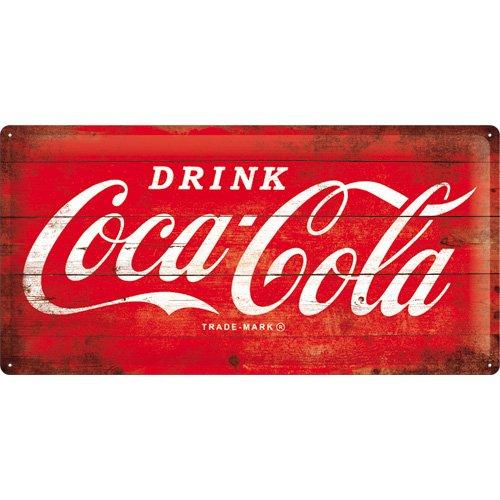Plaque métal Coca-cola 50 x 25