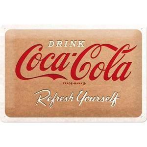 Plaque métal Coca-cola 30 x 20