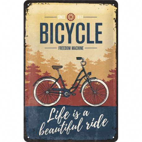 Plaque métal vintage bicycle 20 x 30