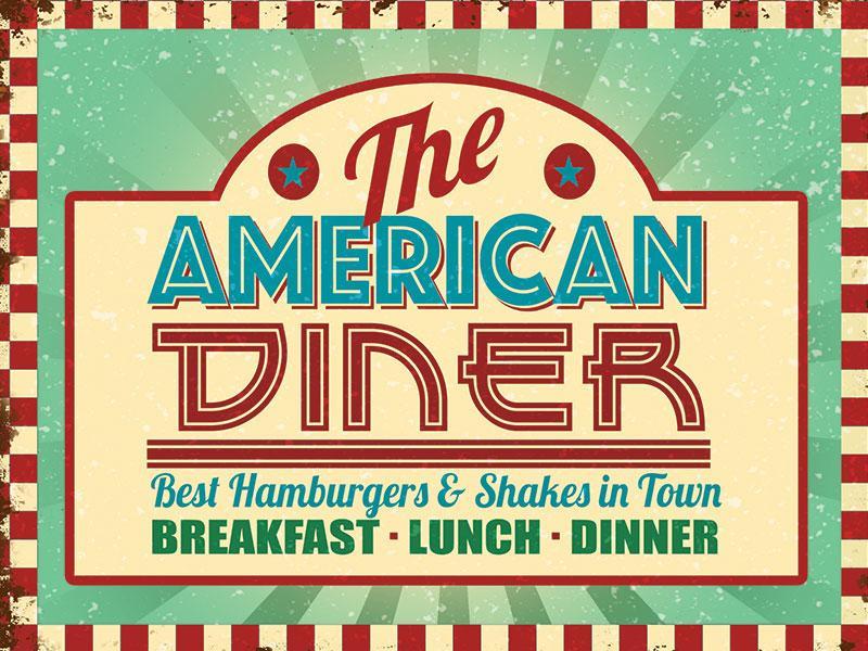 Plaque American diner