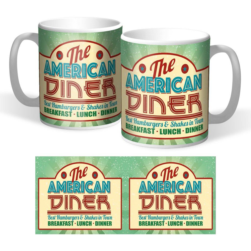 Lot de 2 mugs American Diner