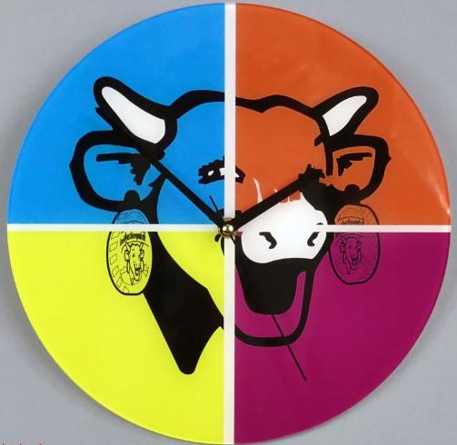 Horloge La vache qui rit pop