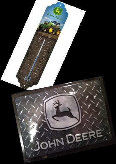 thermomètre+plaque john deere
