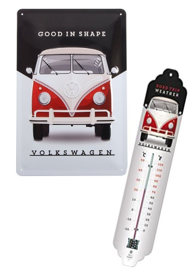 Lot Plaque + thermomètre vw Combi