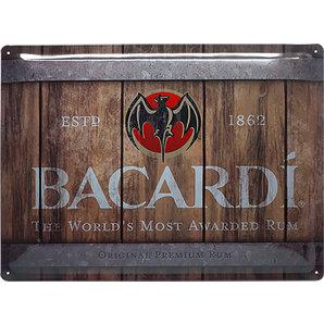 Plaque rhum Bacardi 40 x 30