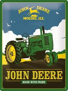 Plaque vintage John Deere 40 x 30
