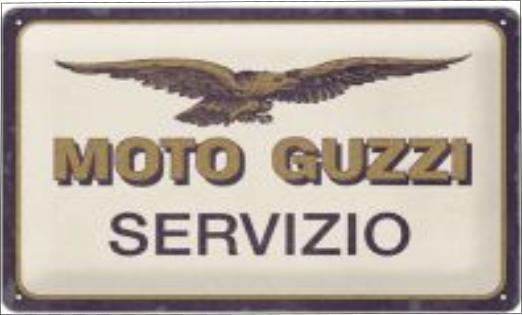 Plaque métal Moto Guzzi servizio 30 x 20