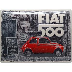 Plaque publicitaire Fiat 500