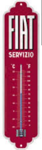 Thermomètre vintage Fiat