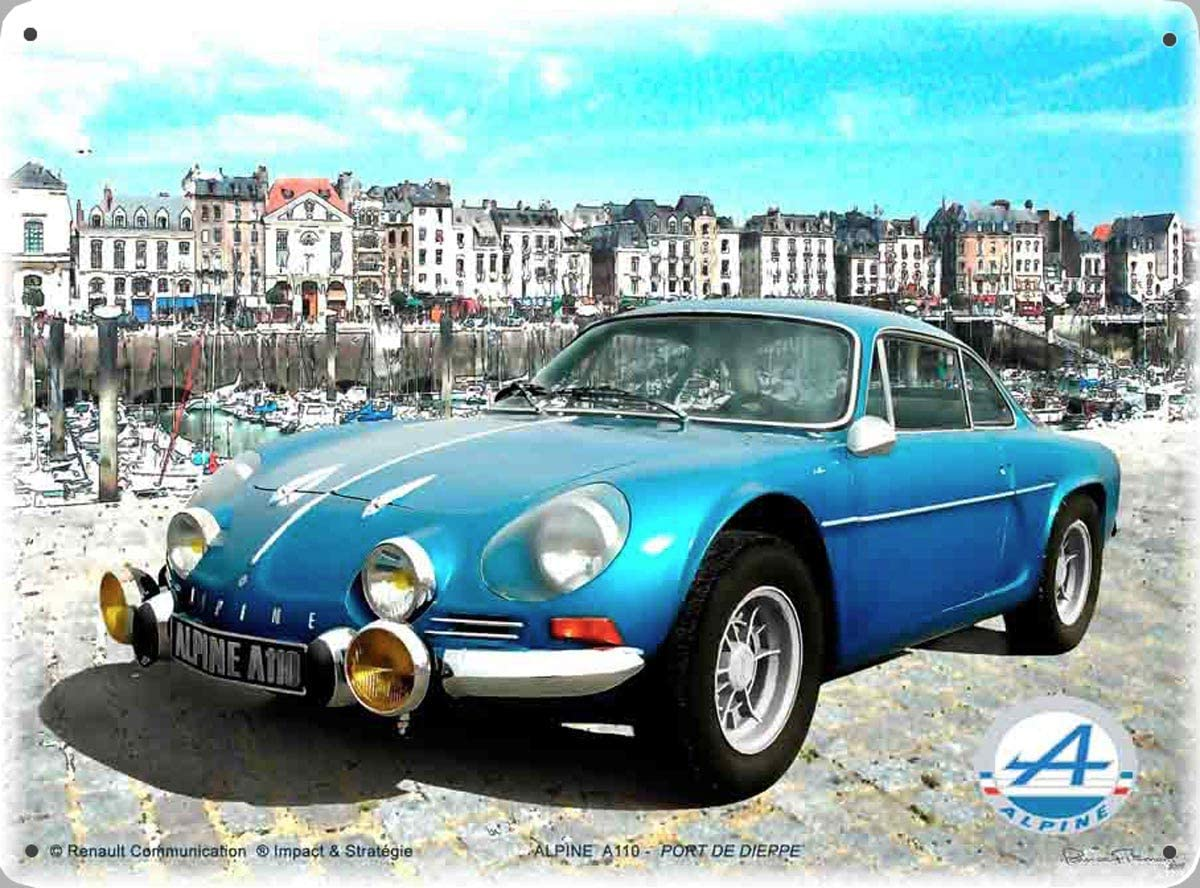 Plaque Alpine A110 berlinette