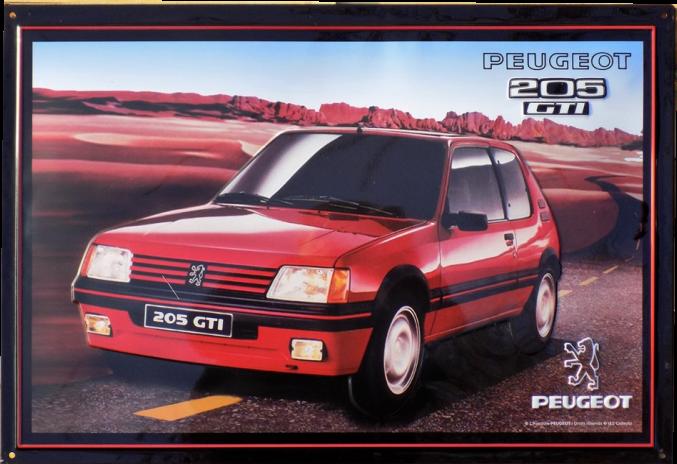 Plaque Peugeot 205 GTI