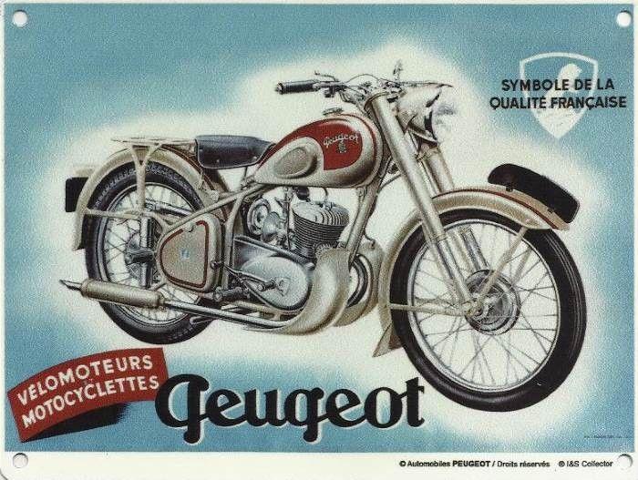 Plaque métal moto Peugeot 30 x 20