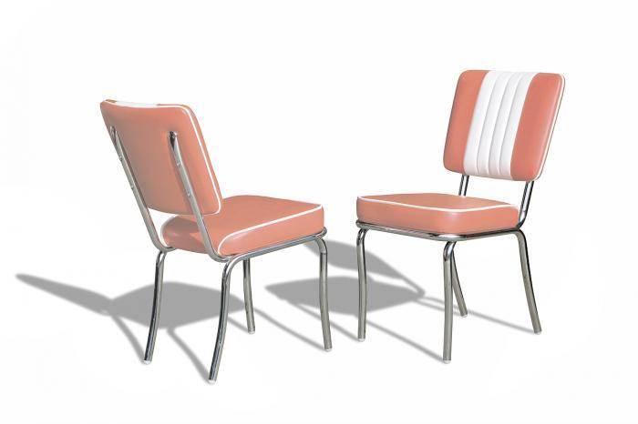 Chaise rétro 50\'s  bi-couleur