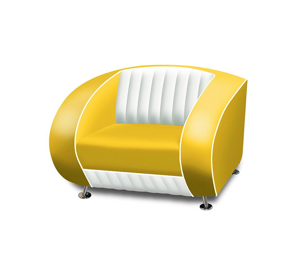 Sofa canapé 1 place bicolore