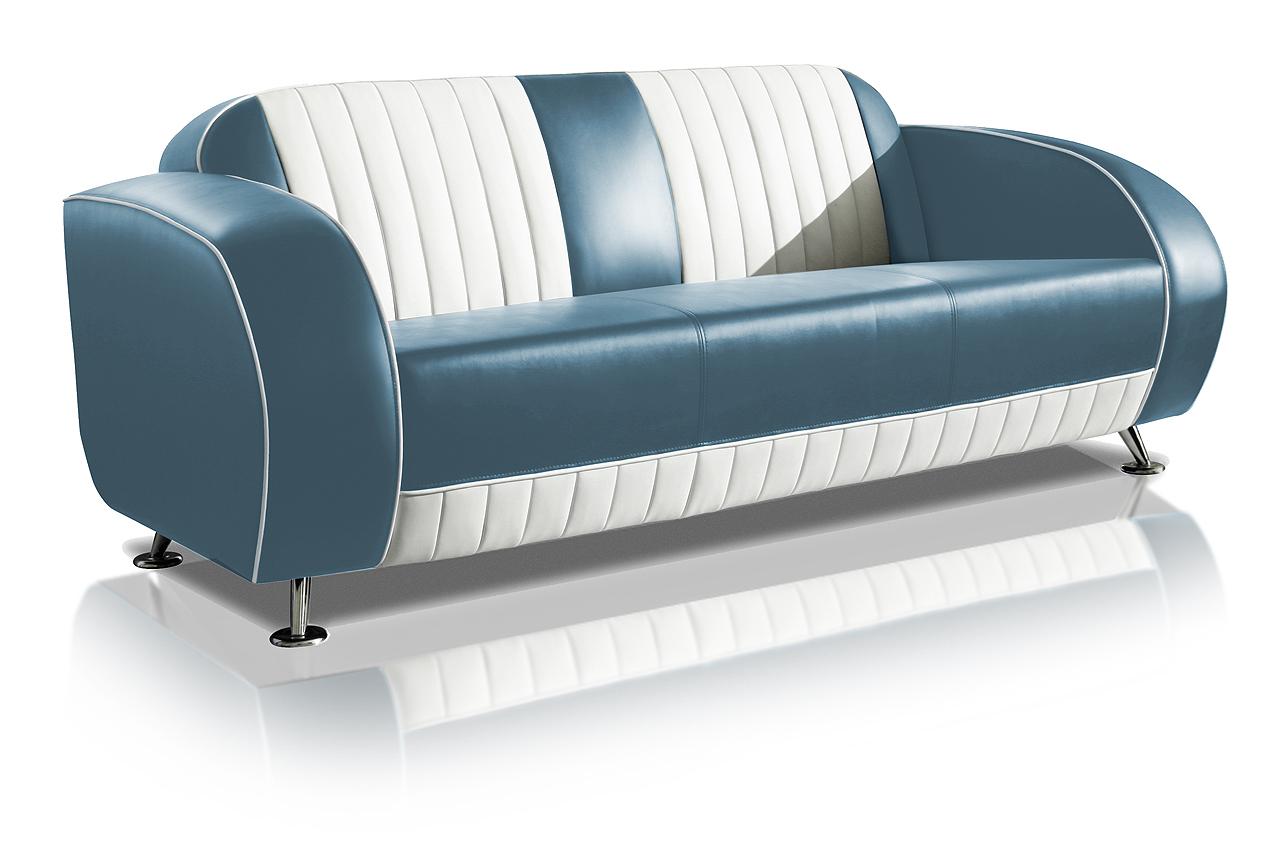 Sofa canapé 3 places bicolore