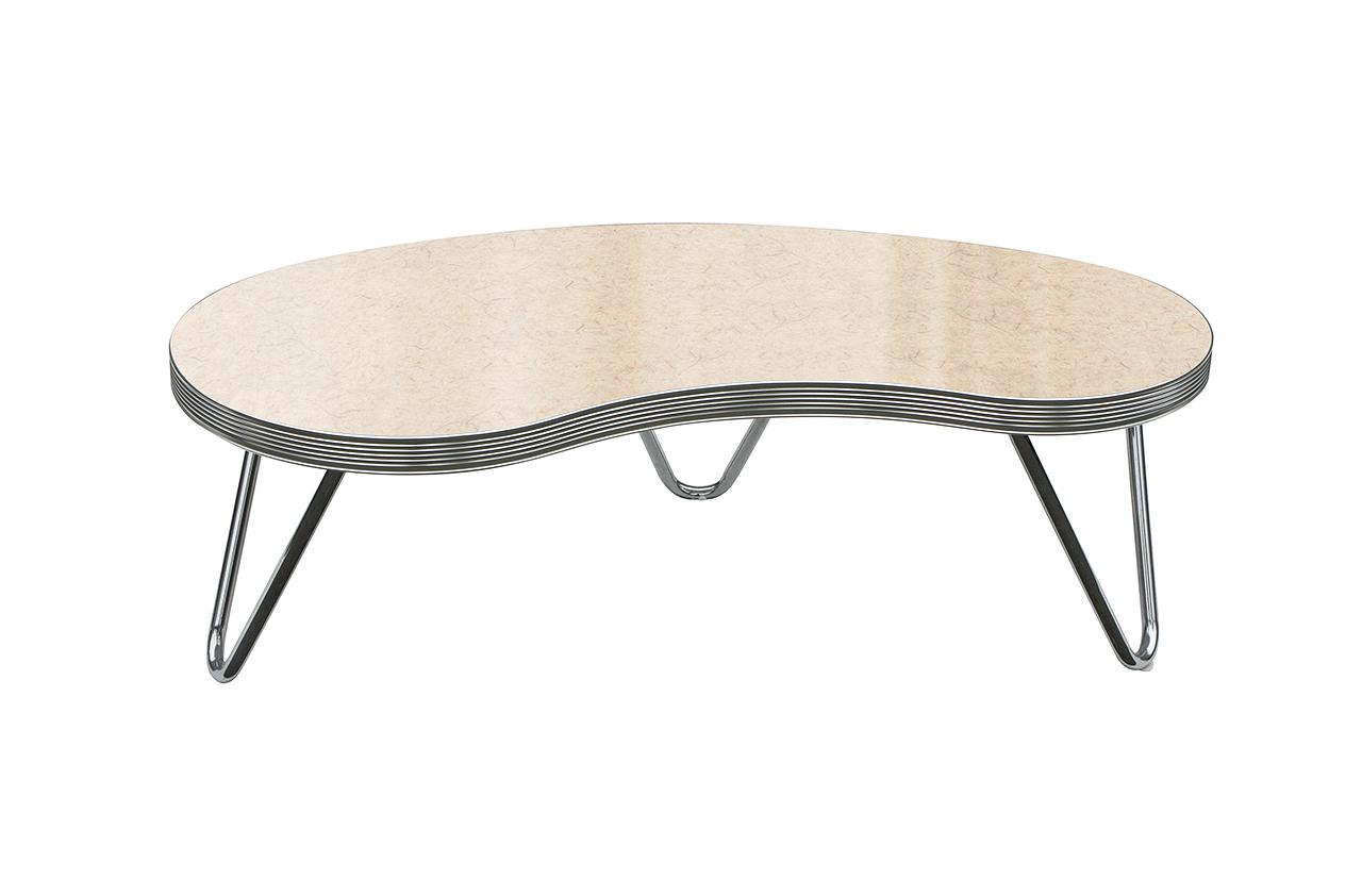 Table basse rétro boomerang
