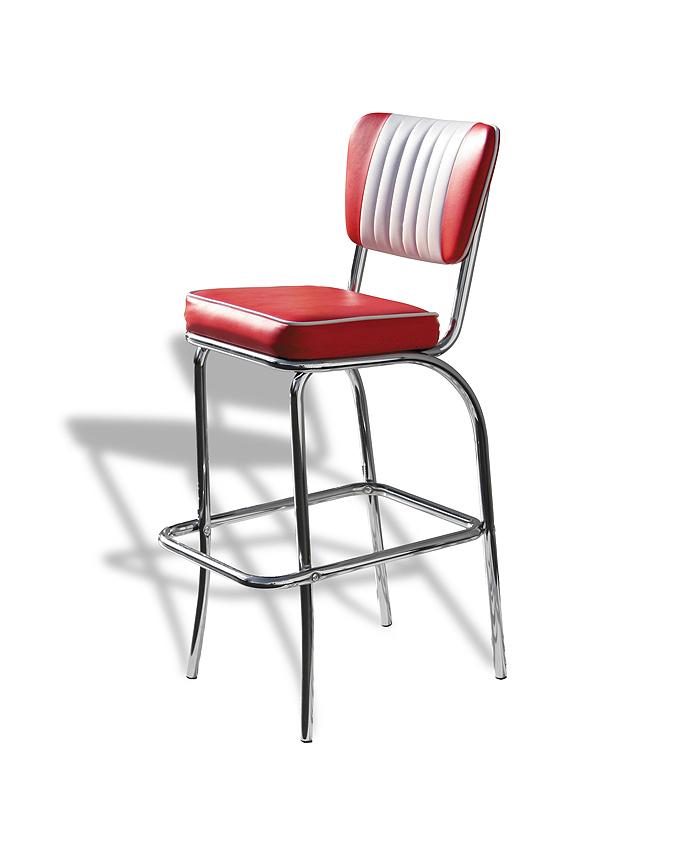 Chaise de bar rétro bicolore