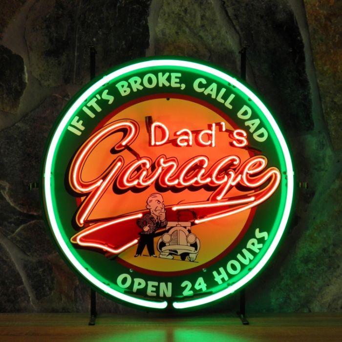 Enseigne néon Dad\'s garage