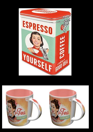 Lot rétro café