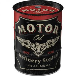 Boite tirelire baril Motor oil